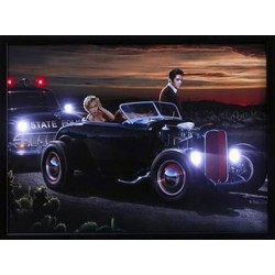 "TABLEAU A LED MARILYN & ELVIS, ""Cinéma"" - Joy Ride"