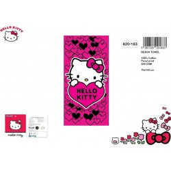 Serviette de bain Hello Kitty Coeur Rose - 140 x 70 cm - 820-183