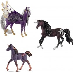 "Famille Licorne ""Constellation"" de 3 figurines - Schleich - 70578-579-580"