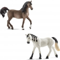 Lot de 2 chevaux Arabe -...