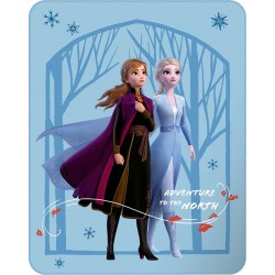 "Pack Disney Plaid Couverture 110 x 140 cm + Coussin 35 x 35 cm La Reine des Neiges 2 ""ADVENTURE"""
