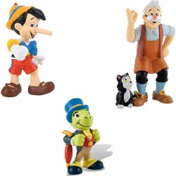 Lot de 3 Figurines Disney Pinocchio - Bullyland