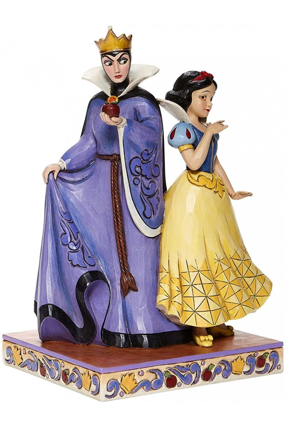Figurine Jim Shore Disney Traditions Blanche Neige et la Reine méchante - Enesco