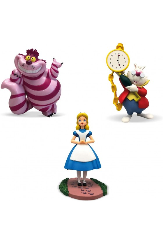 Lot de 3 figurines Alice...